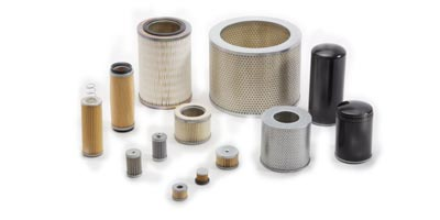 Air filters and oil filters for vacuum pumps